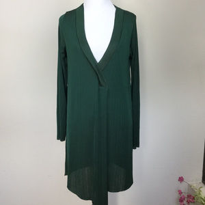 Zara Hunter Green Tunic large NWT